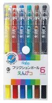 Pilot FriXion Pencil, 0.7mm Ballpoint Pen, 6 Colors Set LFP-78FN-6C - $12.14