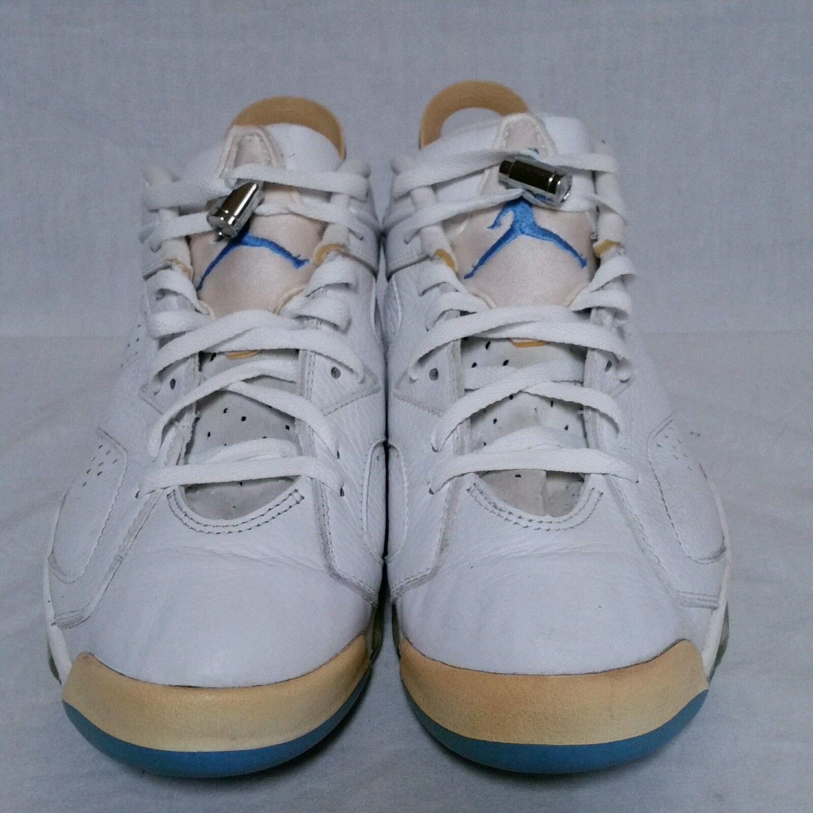 1c38abc388a1 Nike Air Jordan Retro 6 vi Low Carolina UNC University Infrared Chrome Mens  12