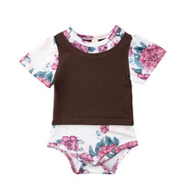Newborn Baby Girl Kids Flower Romper Jumpsuit Toddler Outfit Clothes - $9.40+