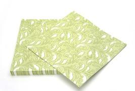 SimuLinen Colored & Decorative Napkins GREEN DE... - $24.99