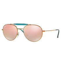 New Ray Ban RB3540 198/7Y GOLD/COPPER Authentic Sunglasses 53-18-140 - $88.44