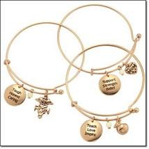 Avon Precious Charms Bracelet Military Mom - $11.99