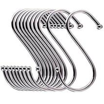 24 Pack ESFUN Round S Shaped Hooks Hangers for Kitchen, Bathroom, Bedroom and Of image 7
