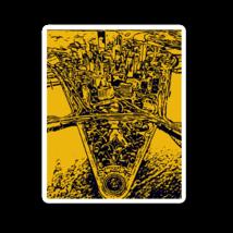 Black & Gold Pittsburgh Sticker - $10.00