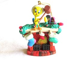 Looney Tunes Warner Bros Tweety on Fireplace Christmas Tree Ornament Mat... - $7.99