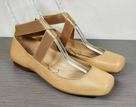 Jessica Simpson Mandalaye Ballet Flat, Natural Leather, Womens Various Sizes - $33.59