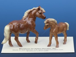 Hagen Renaker Miniature Horse Shetland Pony Mare and Colt Ceramic Figurine Set