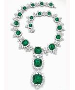 Diamonds& green emerald 209.68 ct platinum neck... - $810,809.01