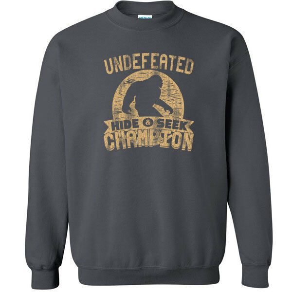 487 Undefeated Hide and Seek Champion Crew Sweatshirt sasquatch big foot new image 2