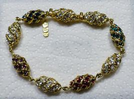 Minty Camrose Kross JBK Jacqueline Kennedy Swarovski Crystal Egg Link Br... - $35.00