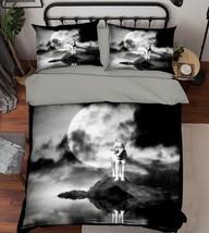 3D Seaside Wolf Bed Pillowcases Quilt Duvet Cover Set Single Queen King Size AU - $64.32+