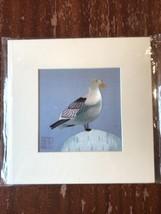 China Embroidery Art Inc Handmade Silk Royal Bird Blue White Matted Pain... - $29.36