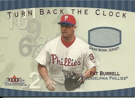 2001 Fleer Tradition Turn Back The Clock Pat Burrell TBC10 Phillies - $4.00