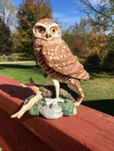 BurrowingOwl Maruri Majestic Owl Night Vtg Figurine 1986 Hamilton colle... - $26.18