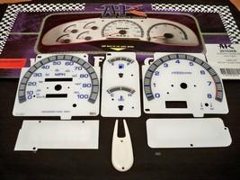 White Face Glow Through Cluster Gauges Kit for 93-97 Nissan Hardbody Hard Body - $19.79