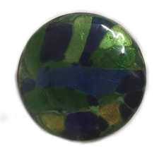Vintage Art Glass Large Statement Piece Brooch Pin R508 Costume Jewelry - $27.08