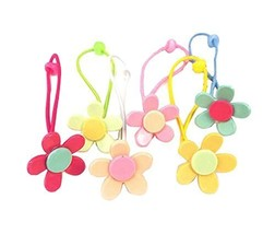 12 pieces Lovely Rubber Bands Hair Ropes Hair Ties for Kids, Sunflower