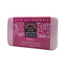 One With Nature Triple Milled Soap Bar - Lilac - 7 oz - $10.18