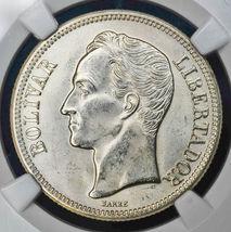 1945 Venesuella 2 Bolivares Silver Coin Very Nice! - $15.35