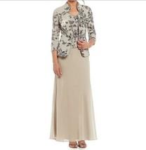 Alex Evenings Mother of Bride Groom Wedding evening Floral Jacket Dress ... - $178.19