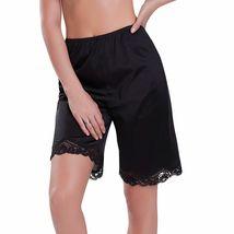 New Women's Premium Illusion Classic Trouser Pants Half Slip With Lace Trim 1037 image 5