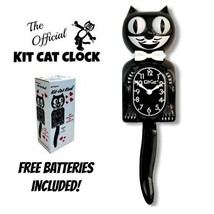 """CLASSIC BLACK KIT CAT KLOCK 15.5"""" Free Battery MADE IN USA Official Cloc... - $49.99"""