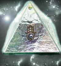 HAUNTED PYRAMID HAMSA BOX HAND OF LUCK & WARD OFF EVIL SECRET OOAK MAGICK - $8,997.77