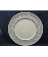 "Royal Doulton Qeensbury Bone China 10.5"" Dinner Plate Blue White Leaves - $17.00"