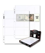 10 Bcw 4 Pocket Currency Page - €4,09 EUR
