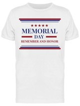 Memorial Day Remember And Honor USA Men's T-shirt image 1