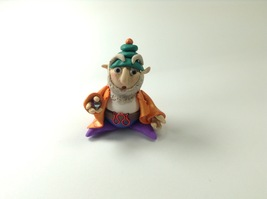 Small Miniature Gnome Fantasy Statue Doll Handmade Polymer Clay Mixed Me... - $34.99
