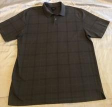 Van Heusen Brand Men's Short Sleeve Polo Sz XL Gray Striped Free Shipping - $12.99