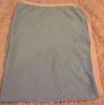 Gund Naturally Baby Boys Blue Cream Lined Baby Nursery Crib Blanket Soft - $7.38