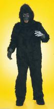 Plush Gorilla Suit Adult Halloween Costume One Size Body, Mask, Feet & Hands - $102.74