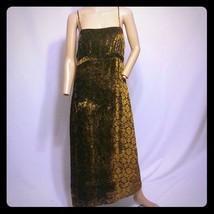 Cynthia Steffe Crushed Shiny Tapestry Velvet Rayon Silk Slip Dress 8 - $94.99