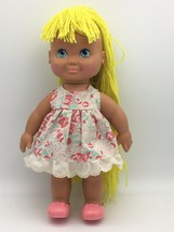 """Vintage Pretty Cut N Grow Doll Playskool 1990 Blonde Yarn Hair 13.5"""" - $19.95"""