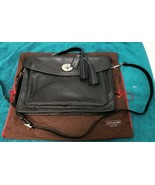 COACH ARCHIVE SMALL BLACK SMOOTH LEATHER BREIF CASE UNISEX  - $108.90