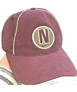 NIKE Vtg 90's Embroidered N Circle Logo Burgandy Strapback Hat Cap Adj. - $19.75