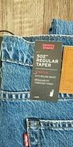 NEW! NWT! Levi's 502 Mens Blue Jeans 42X34 Distressed Denim Pants Joey W... - $19.79