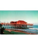 Vtg Postcard 1950s Pier 14 Restaurant and Lounge Myrtle Beach South Caro... - $19.95