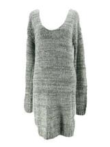 Talula Women's Gray Scoop Neck Long Sleeve Sweater Dress Size Medium - $19.80
