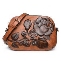 Flowers Printing Vintage Bags Small Retro Flap Cross Body Bags - $45.48
