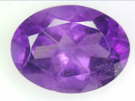1.08 CT NATURAL AMETHYST LOOSE GEMSTONES PURPLE OVAL FACETED CUT 5.95 X ... - $16.56