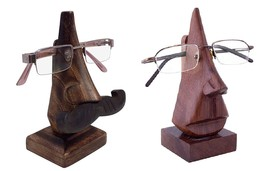 2 x Handmade Wooden Nose Shaped Spectacle Holder Stand for Men Women X-m... - $21.84