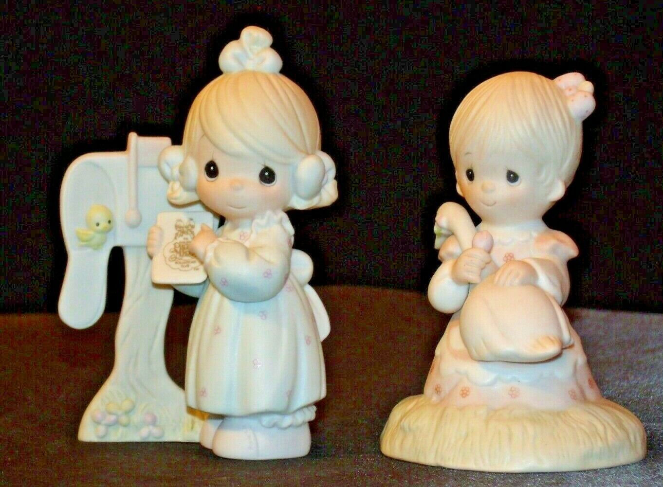 1980 and 1990 Precious Figurines Moments 2 Pieces AA-191821  Vintage Collectible