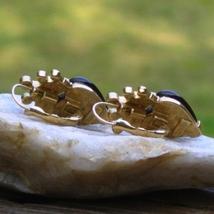 Vintage trifari tm red heart cabochon crown w rhinestone dangle pierced earrings3 thumb200