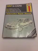 Haynes repair manual GM N-Cars Buick Skylark Somerset, Olds Calais Pontiac Grand - $9.29