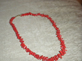 Asian Coral Necklace c 1970 VG+ - $14.99