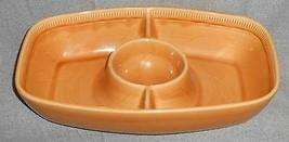 Franciscan LIGHT GOLD WHEAT PATTERN Chip 'n Dip Bowl CALIFORNIA - $49.49