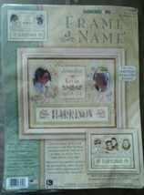Dimensions Frame A Name Wedding or Family Cross Stitch Kit NIP 10 x 8 inches - $12.87
